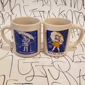 Vintage Morton Salt Coffee Mug Set of 2